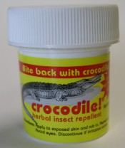 Crocodile insect repellent