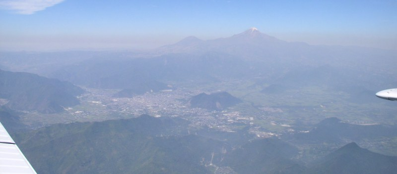 pico de orizaba. City of Orizaba with Pico de